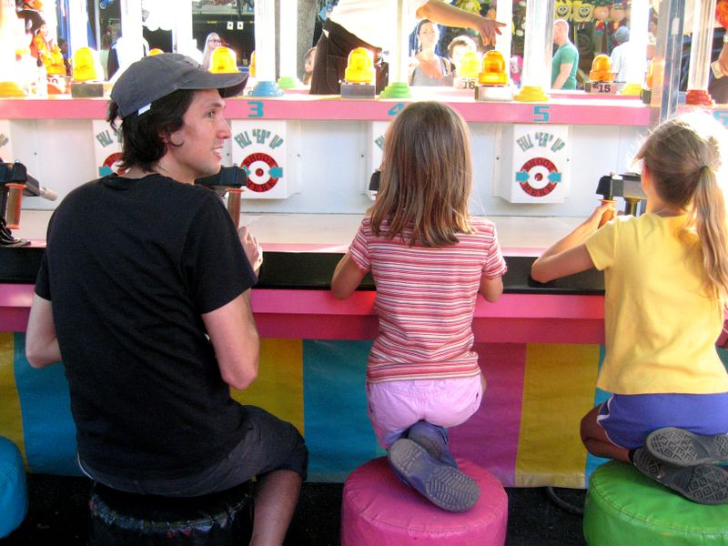 Ry and the girls at the fair
